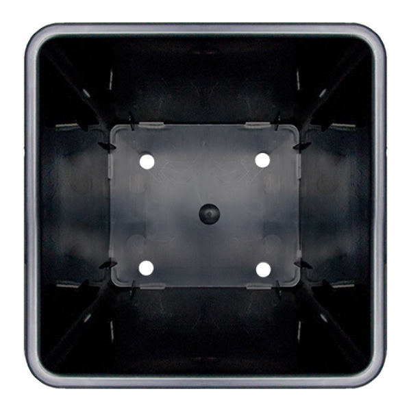 10 in. x 7.67 in. Plastic Rose Bucket with Holes - Square Image