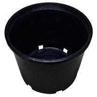 5 Gallon - Premium Nursery Pot - Round Heavy Duty Plant Container - Hydrofarm HG5PHD