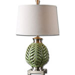Uttermost 26285 - Ceramic Leaf Table Lamp Image
