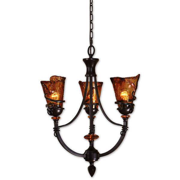 Uttermost 21226 - Amber Glass Chandelier Image