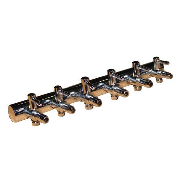 (6) Outlet Copper Air Divider - 1/4 in. Image