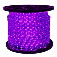 1/2 in. - LED - Purple - Rope Light - 2 Wire - 120 Volt - 150 ft. Spool - Clear Tubing with Purple LEDs - Signature LED-13MM-PU-150