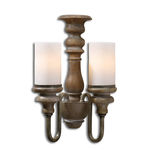 Uttermost 22491 - Turned Wood Wall Sconce Image