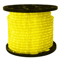 3/8 in. - LED - Yellow - Rope Light - 2 Wire - 120 Volt - 150 ft. Spool - Clear Tubing with Yellow LEDs - Signature LED-10MM-YE-150