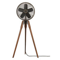 Fanimation FP8014OB - Arden Floor Fan - 3 Speed - Oil-Rubbed Bronze and Walnut Finish