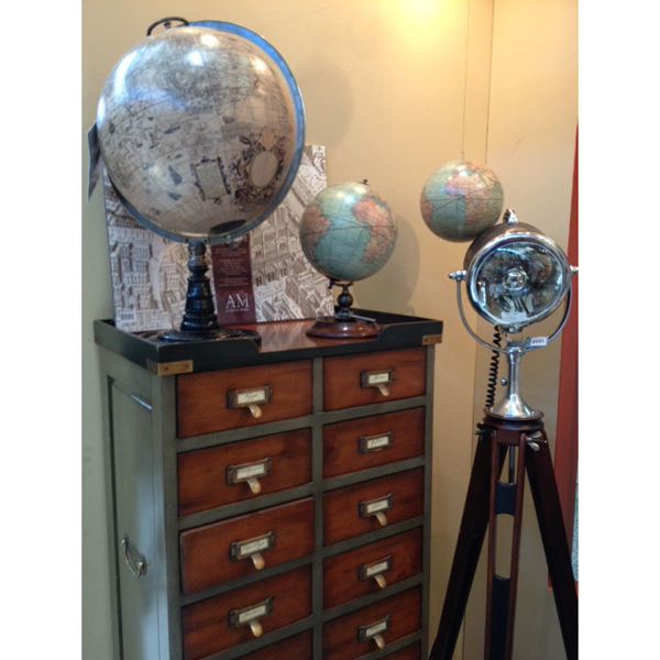 Old World Globe Stand - Handcrafted Replica Image