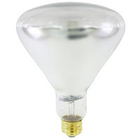 375 Watt - BR40 - IR Heat Lamp - Clear - 5,000 Life Hours - 120 Volt