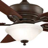 Fanimation FP8095OB - 52 in. - Camhaven Ceiling Fan - (5) 20 in. Reversible Cherry and Walnut Finish Blades - Oil-Rubbed Bronze Finish - Light Kit and Remote Control Included