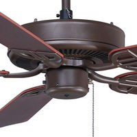 Fanimation BP200OB1 - 52 in. - Aire Decor Ceiling Fan - (5) 20.7 in. Reversible Cherry and Walnut Finish Blades - Oil-Rubbed Bronze Finish