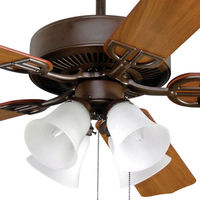 Fanimation BP215OB1 - 52 in. - Aire Decor Ceiling Fan - (5) 20.7 in. Reversible Cherry and Mahogany Finish Blades - Oil-Rubbed Bronze Finish - Light Kit Included