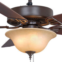 Fanimation BP220OB1 - 52 in. - Aire Decor Ceiling Fan - (5) 20.7 in. Reversible Cherry and Walnut Finish Blades - Oil-Rubbed Bronze Finish - Light Kit Included