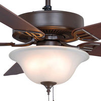 Fanimation BP225OB1 - 52 in. - Aire Decor Ceiling Fan - (5) 20.7 in. Reversible Cherry and Mahogany Finish Blades - Oil-Rubbed Bronze Finish - Light Kit Included