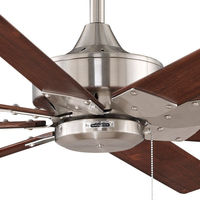 Fanimation FP7910BN - 63 in. - Levon Ceiling Fan - (8) 28 in. Walnut Finish Wood Blades - Brushed Nickel Finish