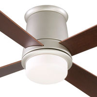 Fanimation FPS7880SN - 52 in. - Inlet Ceiling Fan - (4) 23 in. Reversible Cherry and Walnut Finish Blades - Satin Nickel Finish - Light Kit and Remote Control Included