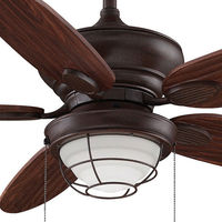 Fanimation FP7963RS - 52 in. - Kaya Ceiling Fan - (5) 21 in. Cherry Bronze Finish Blades - Rust Finish - Light Kit Included