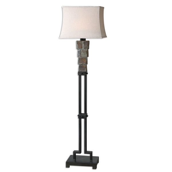 Uttermost 28969 - Carved Slate Floor Lamp Image