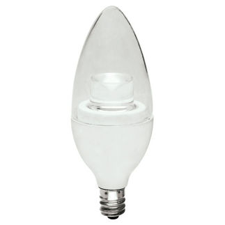 3.5 Watt - Dimmable LED - Candle Light Bulb - 3000K Warm White - 180 Lumens - 20 Watt Incandescent Equal - Satco S8996