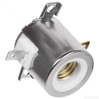 SYLVANIA 69785 - S4 - Steatite Socket - No Leads - 18 AWG - 300 Deg. C - Use with Halogen Lamps - Single Ended