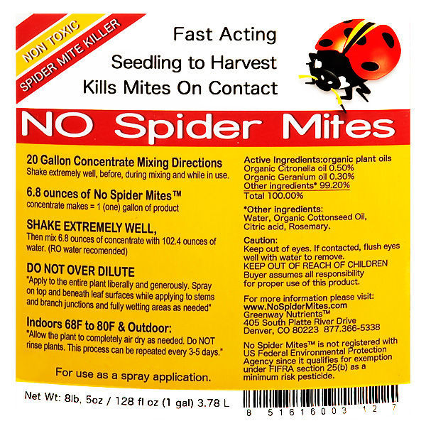 No Spider Mites Concentrate - 1 gal. Image