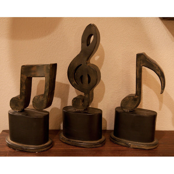 Uttermost 19280 - (Set of 3) Music Symbol Figurines Image
