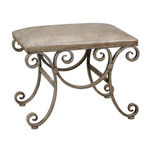 Uttermost 24239 - Small Crocodile Embossed Bench Image