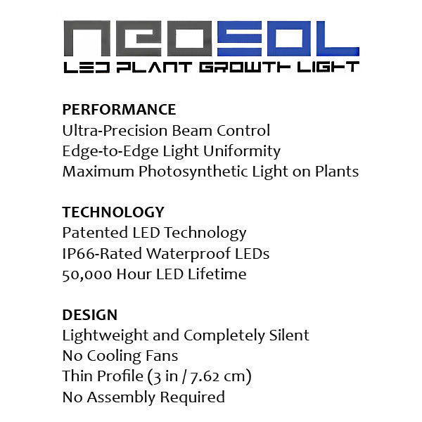 NeoSol LED Plant Growth Fixture Image