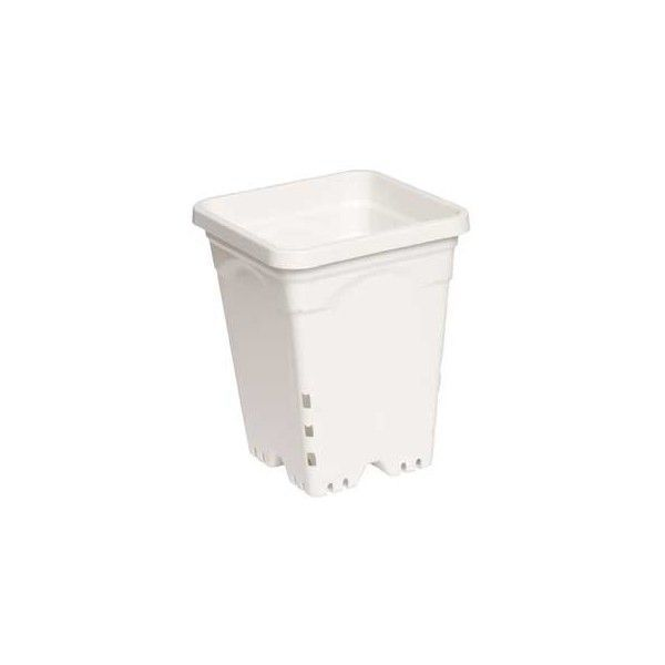 Plastic Planter - 6 in. x 6 in. Square - 8 in. Tall Container Image
