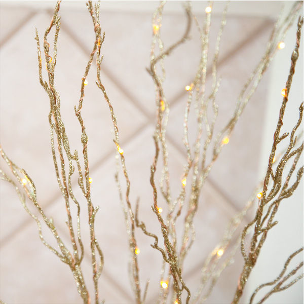 (48) LED - 3 Gold Stem Twig Lights Image