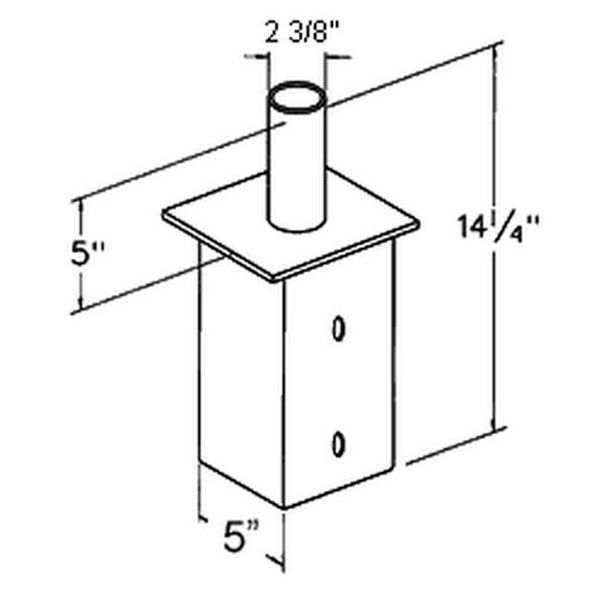 RAB BAD6 - Internal Vertical Tenon Adapter Image
