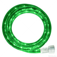 Incandescent - 24 ft. - Rope Light - Green - 120 Volt - Includes Easy Installation Kit - Green Tubing with Warm White Bulbs - Signature 13MM-GR-24KIT