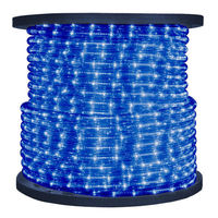 1/2 in. - Incandescent - Blue - Rope Light - 2 Wire - 120 Volt - 150 ft. Spool - Blue Tubing with Warm White Bulbs - Signature 13MM-BL-150