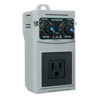24-Hour Analog Timer - 1 Outlet - Control Grow System Devices - 120V - 14.5A - Autopilot APCTART