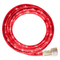 Incandescent - 24 ft. - Rope Light - Red - 120 Volt - Includes Easy Installation Kit - Red Tubing with Warm White Bulbs - Signature 13MM-RE-24KIT