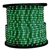 1/2 in. - Incandescent - Green - Rope Light - 2 Wire - 120 Volt - 150 ft. Spool - Green Tubing with Warm White Bulbs - Signature 13MM-GR-150