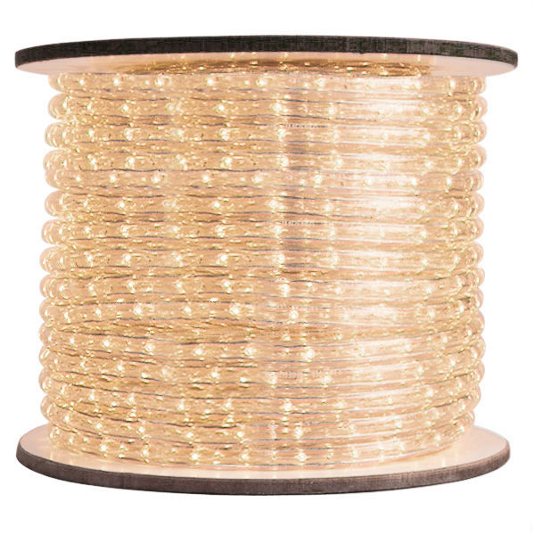 3 8 In Led Warm White Rope Light 2 Wire 12 Dc Volt 150 Ft Spool Clear Tubing With Leds Signature 10mm Ww 12v
