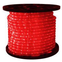 1/2 in. - LED - Red - Rope Light - 2 Wire - 120 Volt - 150 ft. Spool - Clear Tubing with Red LEDs - Signature LED-13MM-RED-150