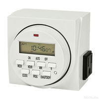 7-Day Digital Programmable Timer - 2 Outlet - Controls Grow System Devices - 1725 Max. Wattage - 120V - 15A - Hydrofarm TM01715D