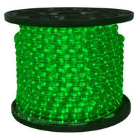 1/2 in. - LED - Green - Rope Light - 2 Wire - 12 DC Volt - 150 ft. Spool -  Clear Tubing with Green LEDs - Signature LED-13MM-GR-150-12V