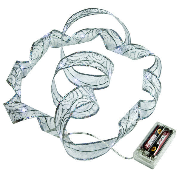 6 ft. Lighted Length - 1.5 in. Width - SILVER Ribbon Image
