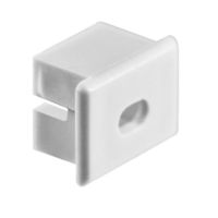 MW End Cap with Hole for PDS4-ALU Channel - Works with Klus Micro Switch - Klus 00027