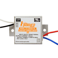 LED Driver - Operates 8-15 Watts - 24-50V Output - 350mA Output Current - Input 120V - Works With Constant Current Products Only