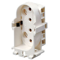 18W to 55W - CFL Socket - 4 Pin 2G11 Base - White - Snap-In Lampholder - Leviton 13453