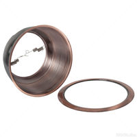 Nora NTM-33CO - 75 Watt - 6 in. - PAR30 - Copper Stepped Baffle with Copper Metal Ring