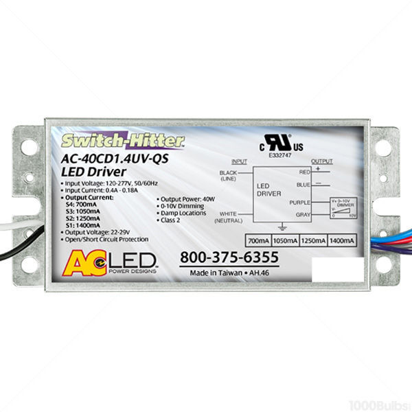 LED Driver - Dimmable - 29 Volt - 20-40 Watts - 700-1400mA Output Current Image