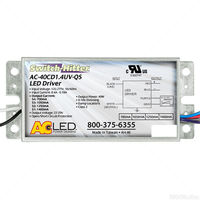 LED Driver - Operates 20-40 Watts - 24-29V Output - 700-1400mA Output Current - Dimmable - 120-277V Input - Works With Constant Current Products Only