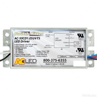 LED Driver - Operates 24-50 Watts - 33-48V Output - 500-1050 Output Current - Dimmable - 120-277V Input - Works With Constant Current Products Only