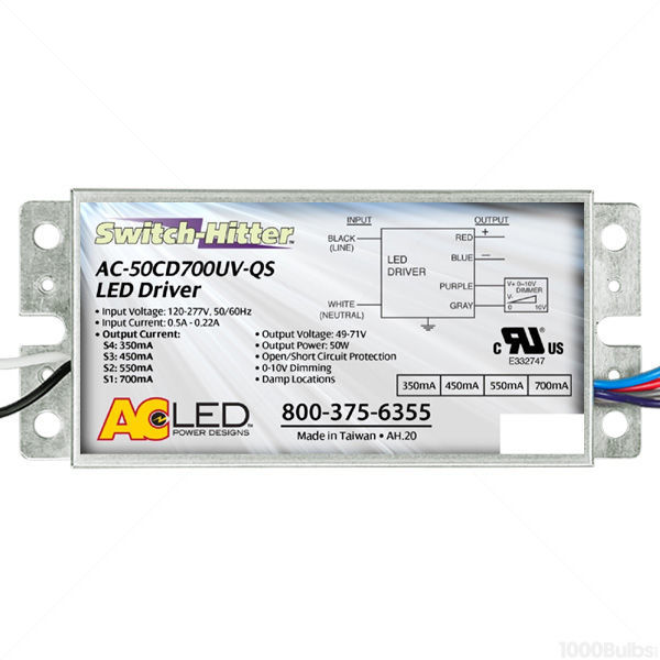 LED Driver - Dimmable - 25-50W - 350-700 Output Current Image