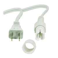 3/8 in. - Incandescent Rope Light Power Cord and Connector - Length 6 ft. - 2 Wire - FlexTec M1/M2