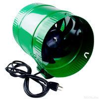 In-Line Booster Fan - 6 in. - 188 CFM - 25 Watts - 120 Volts - 0.3 Amps - Includes 8 ft. Power Cord - Active Air ACFB6