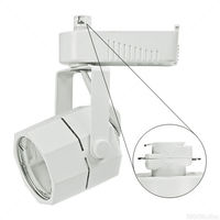 White - Studio Octagon Low Voltage Track Fixture - Operates 20-50 Watt MR16 - Compatible with Halo Track - Integral 12V Electronic Transformer - Nora NTL-201W